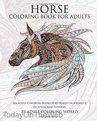 horse coloring book for adults an adult coloring book of