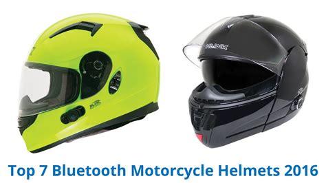 7 Best Bluetooth Motorcycle Helmets 2016