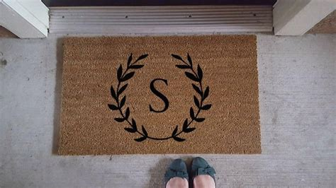 initial doormats best 25 welcome mats ideas on doormats cool