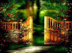Heaven's Gate Garden Background