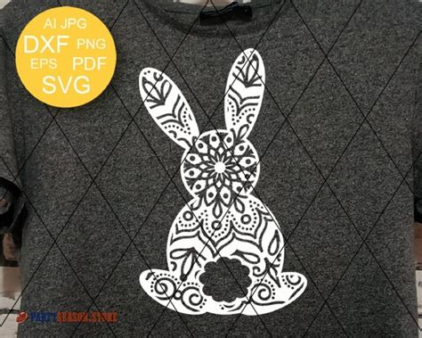 Head over to download your free svg files today. Bunny Zentangle vector files