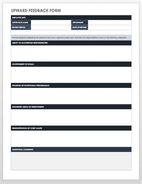 employee performance review templates smartsheet