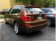 BMW F25 X3 spotted in Chestnut Bronze Metallic