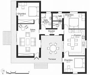 plan maison 100 m2 a toit plat ooreka With plan maison toit plat 120m2