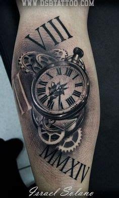 tatouage horloge realiste tatoo tatouage biomecanique