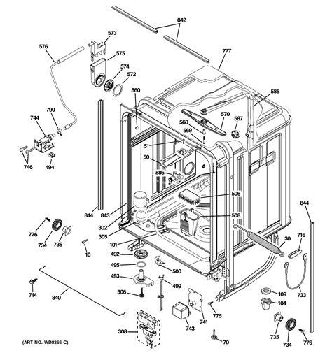 ge dishwasher parts model pdwfrss sears partsdirect