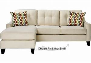 Cindy crawford home madison place vanilla 2 pc sleeper for Sectional sofas room place