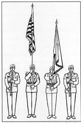 Guard Salute Flag Cadet B1 Corps California sketch template