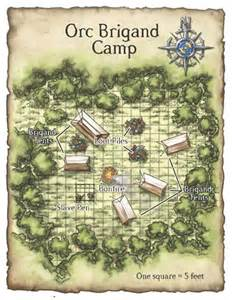 Dungeons and Dragons Bandit Camp Map