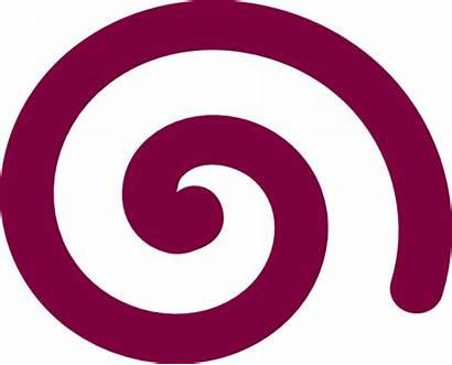 Spiral Simple Purple Clip Clipart Clker Vector