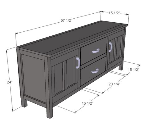 ana white build  media console   easy diy project  furniture plans diy diy