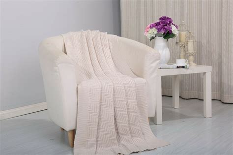 Throw Blankets For Couches by Soft Plush Pietra Knitted Fabric Throw Coverlet