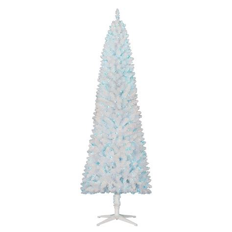 white christmas tree with blue lights 7 39 prelit artificial christmas tree slim holiday white