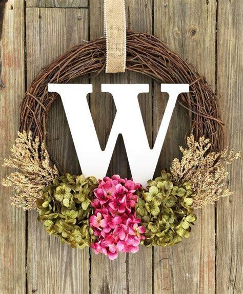 easy diy     base monogram wreath spring wreathspring decor summer