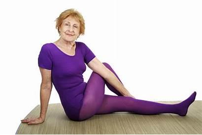 Yoga Senior Flexible Hip Stockings Mature Woman