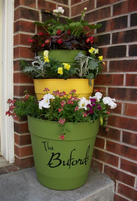tiered planter ideas    easily   clay