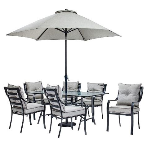 hanover lavallette pc outdoor dining set  table