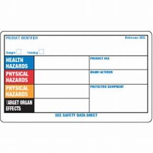 blank label 3quot x 5quot ghs workplace orange system paper With blank msds label