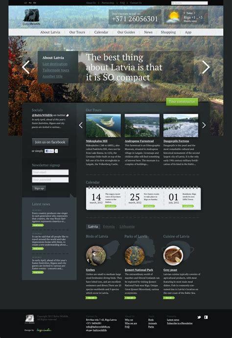 baltic wildlife website concept  studio  behance