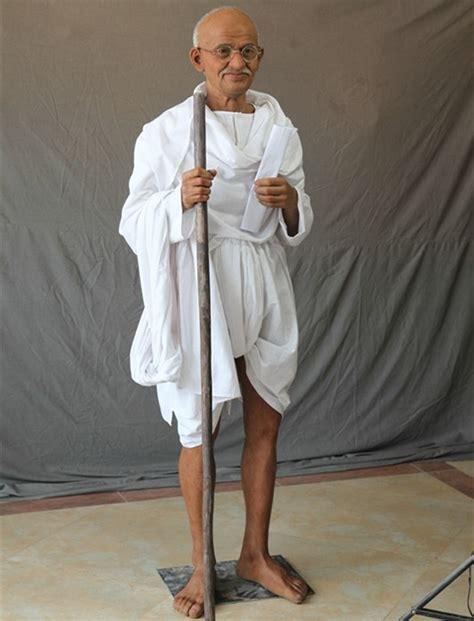 celebrity lifesize wax figure mahatma gandhi silicone