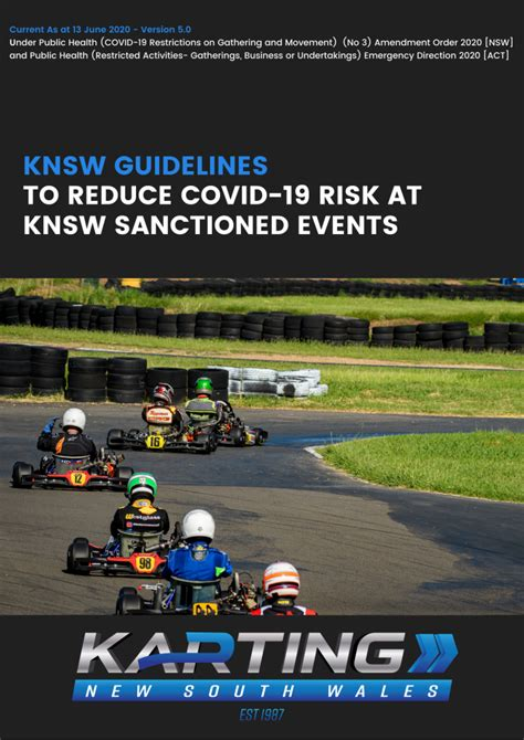 What are the rules across the state? KNSW GUIDELINES - VERSION 5.0 RELEASED | Karting New South Wales