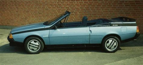 1986 Renault Fuego Convertible Cars Motorcycles