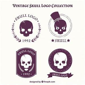 Collection of vintage skull logos Vector | Free Download
