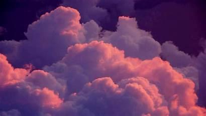Aesthetic Desktop Clouds Backgrounds Wallpapers Pink Computer