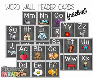 free word wall header cards follow for free quottoo neat With abc letters for classroom