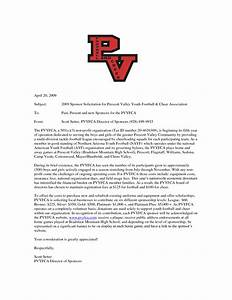 sample sponsorship letter for youth sports team best With youth football donation request letter