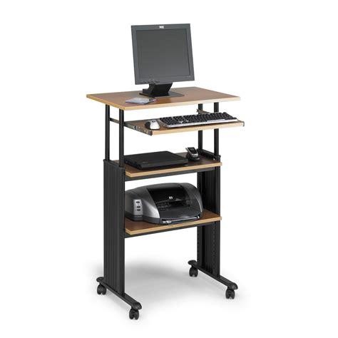 adjustable standing computer desk furniture portable standing computer workstation on