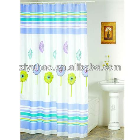 promotional wholesale shower curtain with bath rug