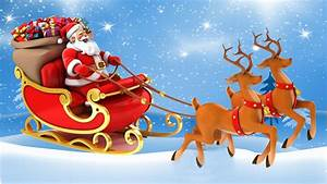 Christmas Postcard Santa Claus In A Sleigh With Gifts ...