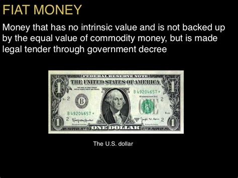 What Is Fiat Money In Economics by Failure Of The World Economic System