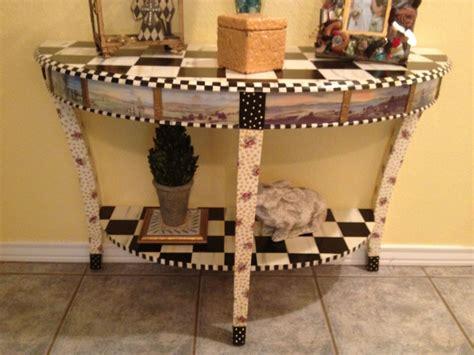beautiful table mackenzie childs paint furniture hand