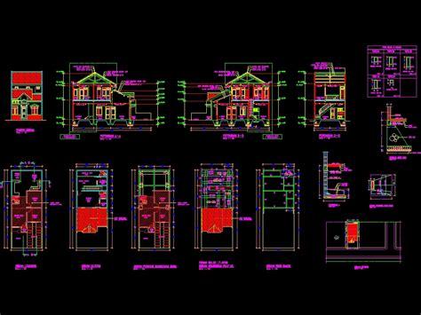 desain rumah tinggal sederhana    autocad cad
