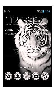 White Tiger Theme With Custom Design For Android Device ...