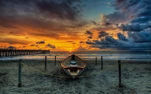 Sunset, Amazing, Sea, Clouds, Nature, Ultra, 2560x1600, Hd