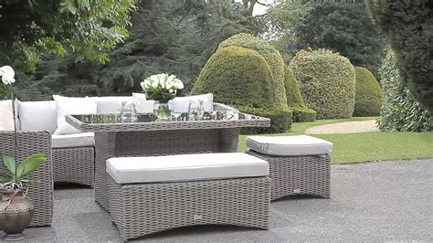 decoalfresco luxury high back corner sofa dining set hal