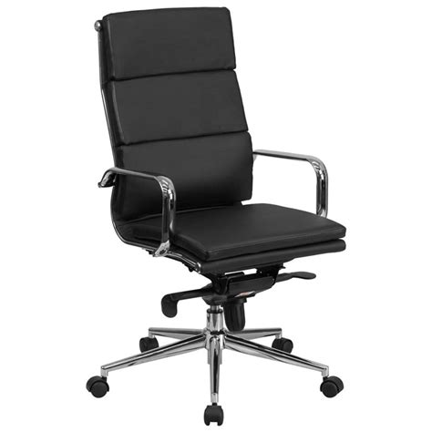 Office Chairs For Back by High Back Black Leather Executive Swivel Office Chair With