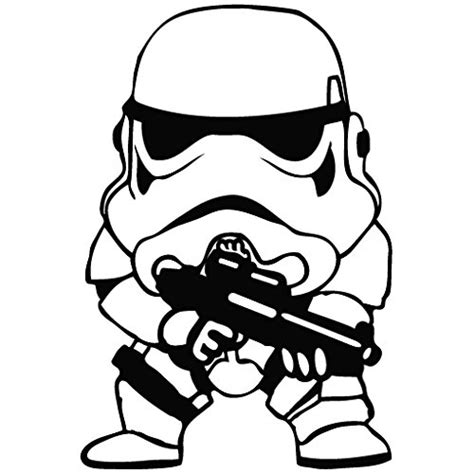 Star Wars Clone Soldier Cute  Cartoon Decal Vinyl Car. White Writing Logo. Railroad Lettering. Lip Balm Decals. The Mighty Ducks Logo. Owls Logo. Black Wall Stickers. Black And White Wall Mural. Restaurant Mexican Murals