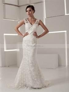 timeless sleeveless lace mermaid wedding dress With sleeveless wedding dress