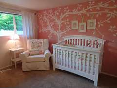 Girls Nursery Rooms 5 Ideas Nursery In Pink With Plenty Of Pattern Design B Design Bracketing Little Girl Rooms Designing Baby Girl Nursery The Adventures Of Olive Gallon Baby Room Ideas