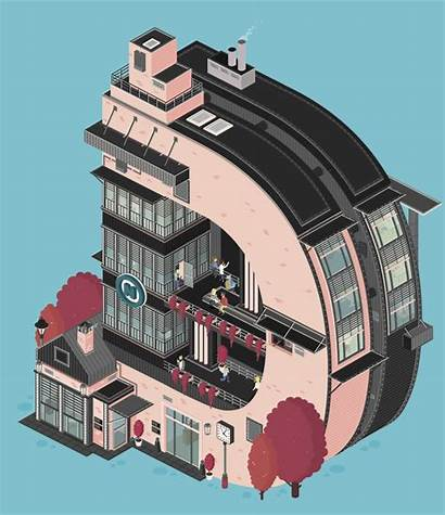 Architecture Gifs Animated Creative Letters Schommer Florian