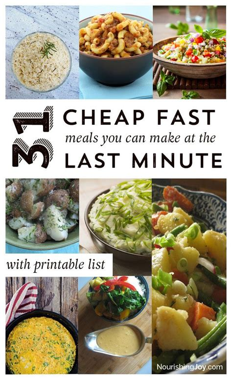 cheap and easy dinner 31 cheap last minute real food dinner ideas fast meals the end and healthy