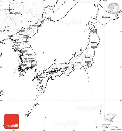 blank map japan printable
