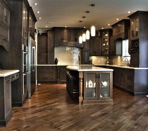 kitchen floor ideas with dark cabinets dark kitchen cabinets herringbone floor home ideas
