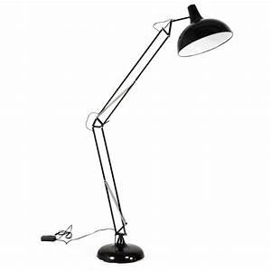 Lampe Sur Pied Design : lampe sur pied design rollier en m tal noir ~ Preciouscoupons.com Idées de Décoration