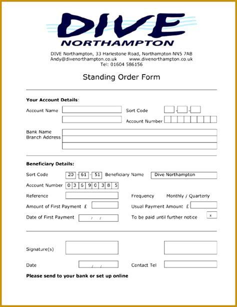 standing order format fabtemplatez