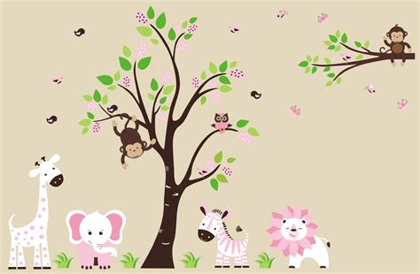 Wallpaper With Animals For Rooms - animal wallpaper for nursery wallpapersafari